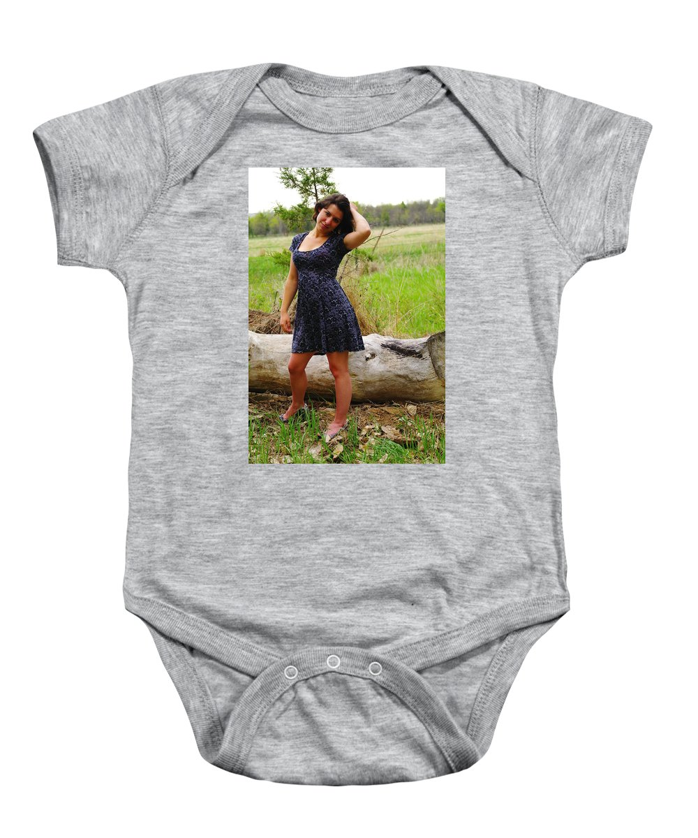 Females Baby Onesie featuring the photograph Young Beauty by Jeff Swan