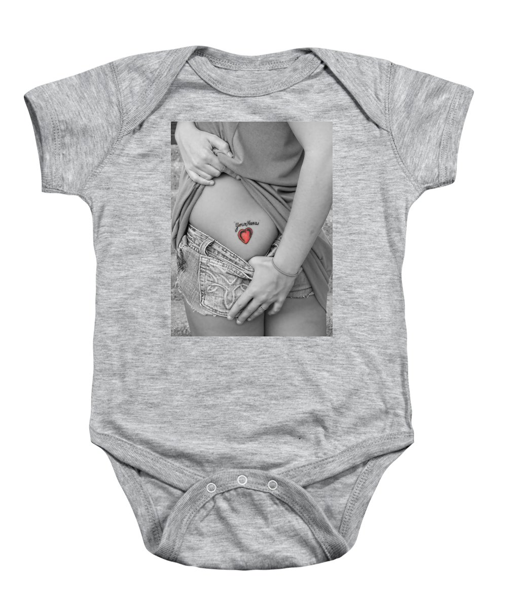 Tattoos Baby Onesie featuring the photograph Your Name by Kristie Bonnewell