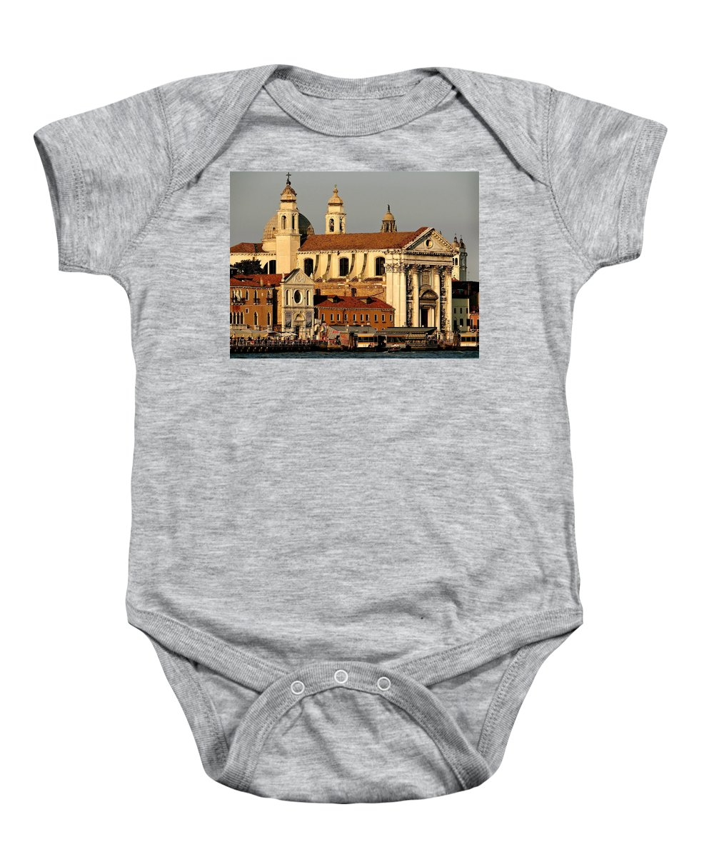 Zattere Baby Onesie featuring the photograph Zattere Landing by Ira Shander