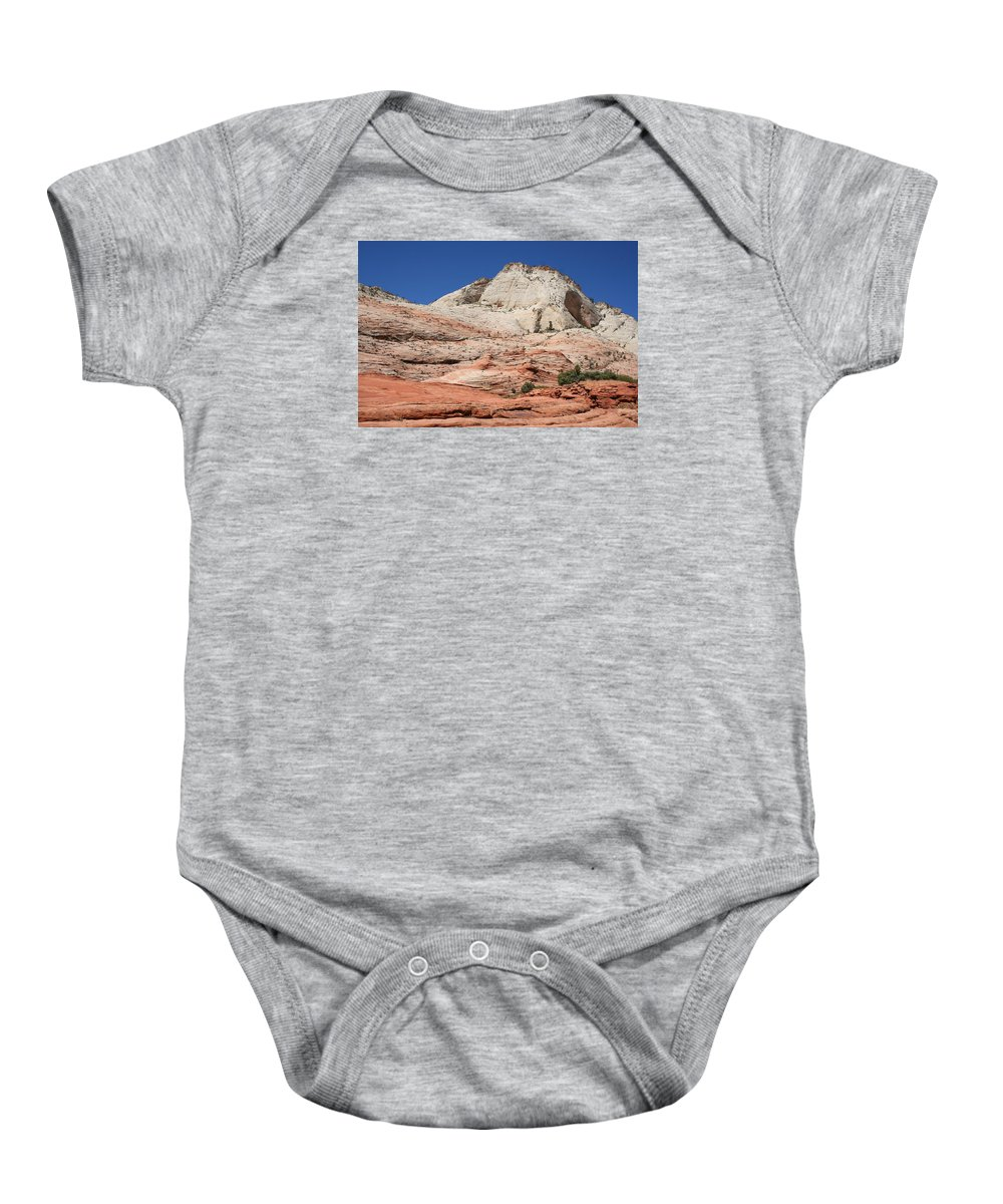 Mountains Baby Onesie featuring the photograph Zion Park - Rock Texture by Christiane Schulze Art And Photography