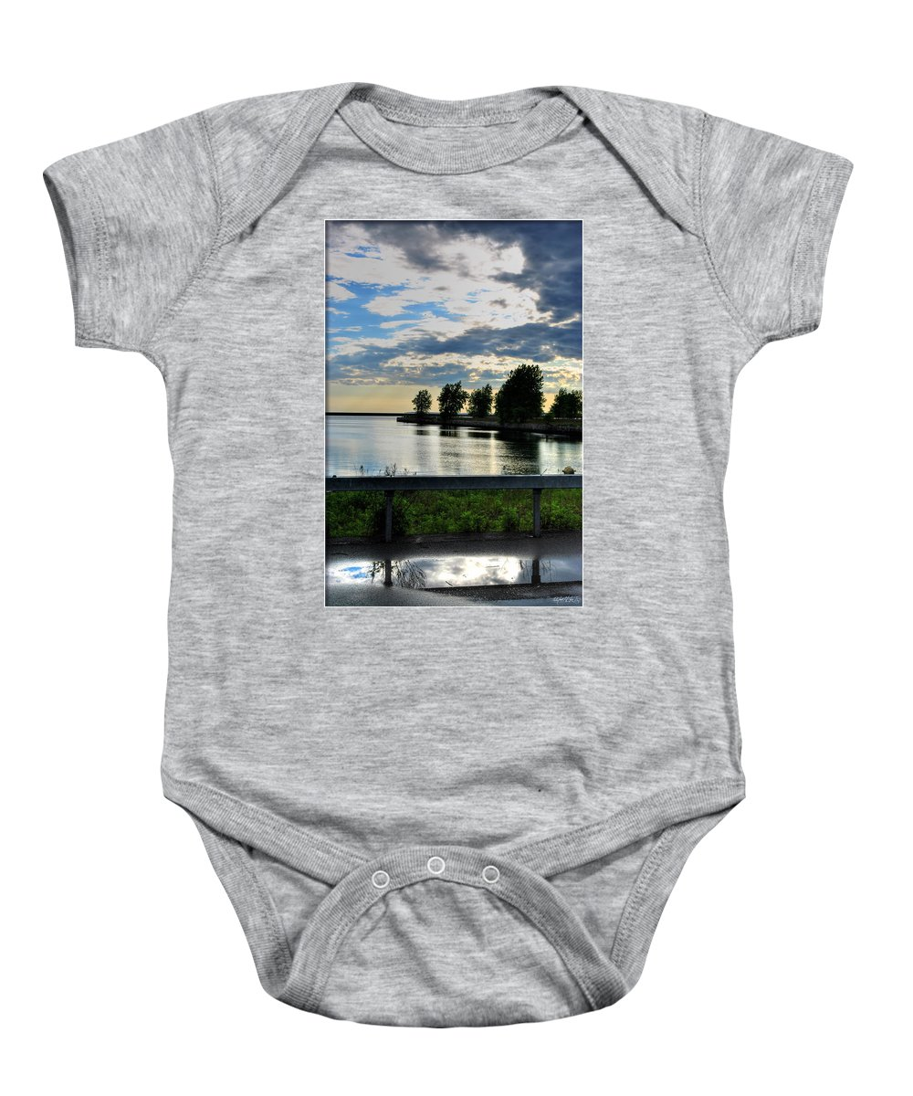 Baby Onesie featuring the photograph 01 Reflecting by Michael Frank Jr