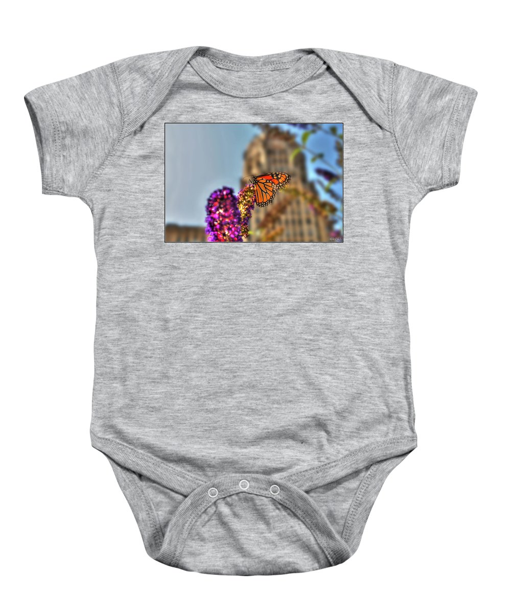 Baby Onesie featuring the photograph 010 Making Things New Via The Butterfly Series by Michael Frank Jr