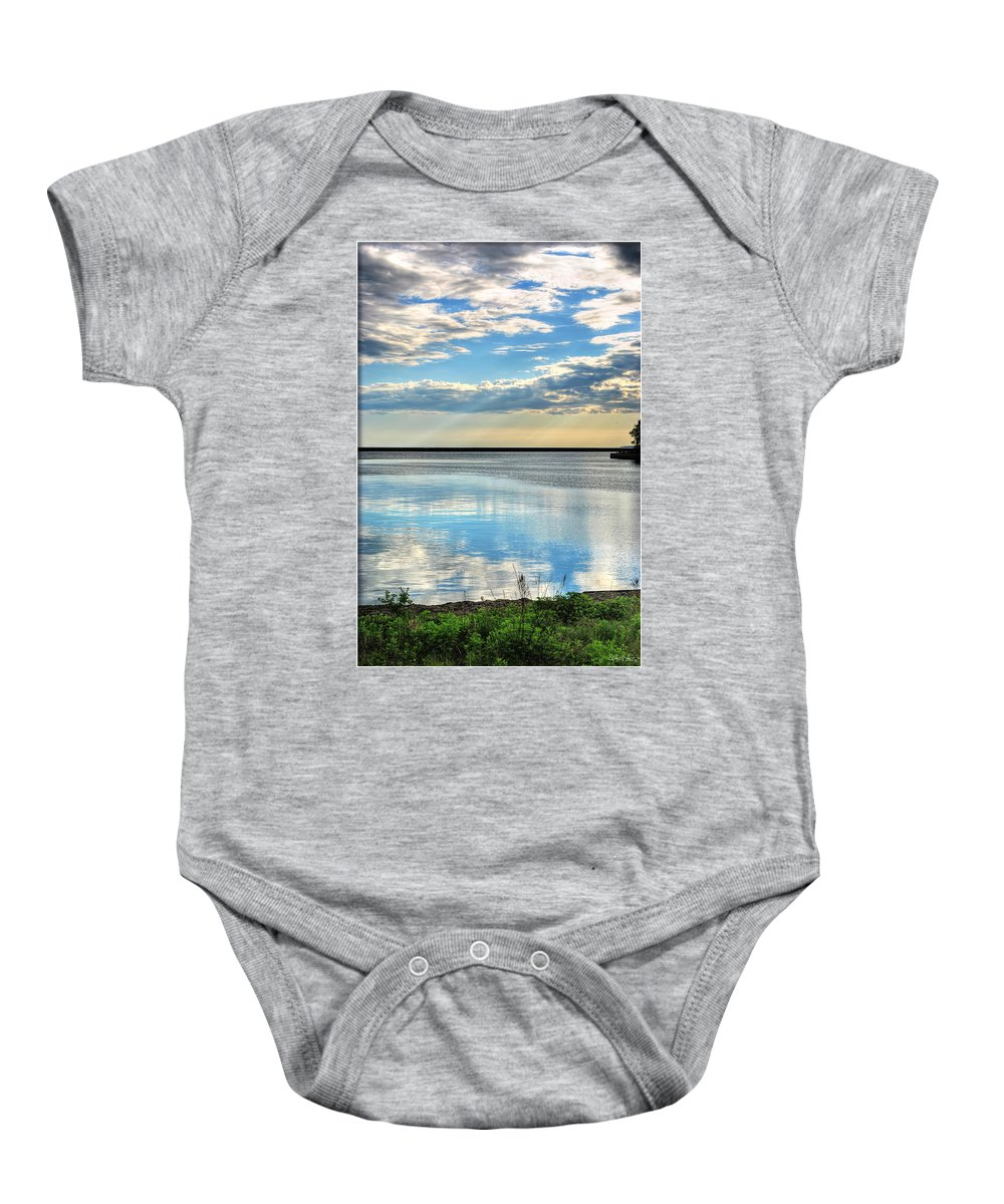 Baby Onesie featuring the photograph 02 Reflecting by Michael Frank Jr