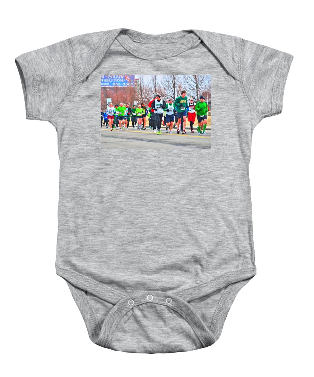 Baby Onesie featuring the photograph 021 Shamrock Run Series by Michael Frank Jr