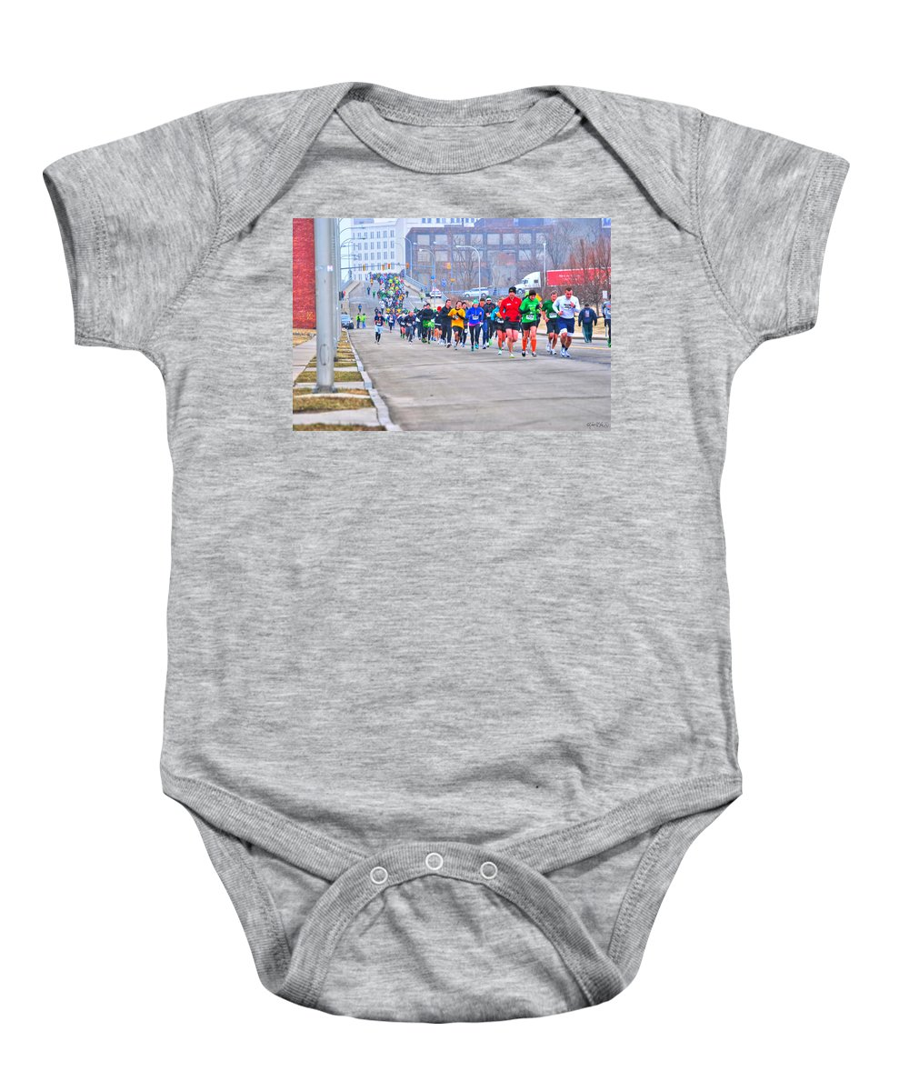 Baby Onesie featuring the photograph 010 Shamrock Run Series by Michael Frank Jr