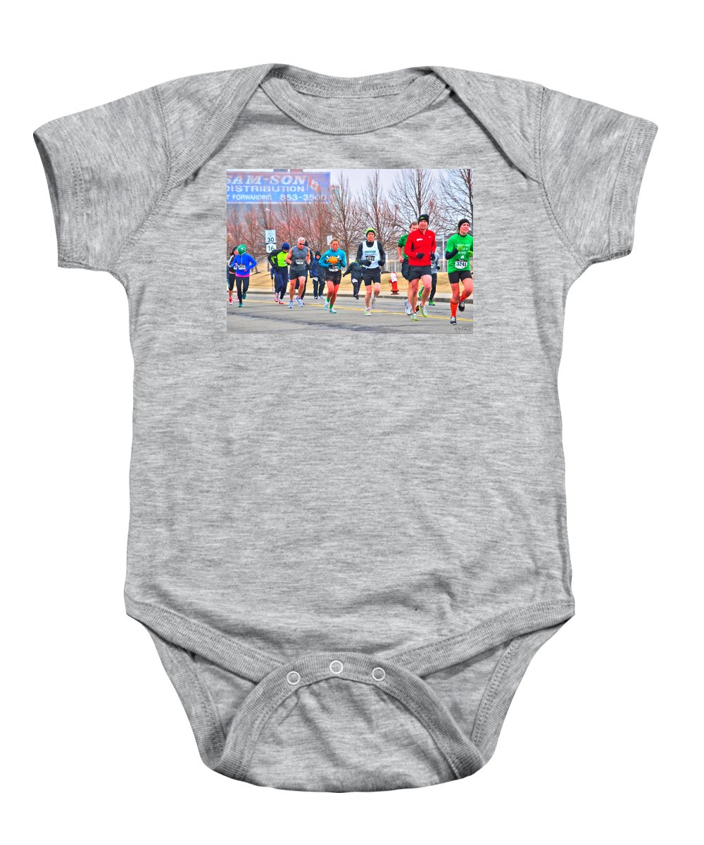 Baby Onesie featuring the photograph 011 Shamrock Run Series by Michael Frank Jr