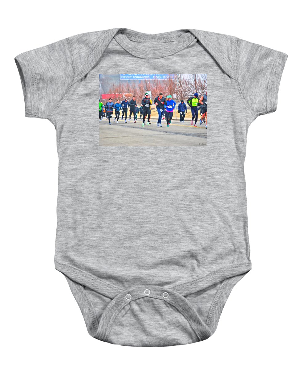 Baby Onesie featuring the photograph 012 Shamrock Run Series by Michael Frank Jr