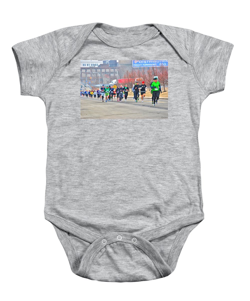 Baby Onesie featuring the photograph 013 Shamrock Run Series by Michael Frank Jr
