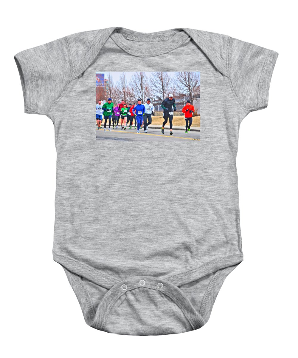 Baby Onesie featuring the photograph 015 Shamrock Run Series by Michael Frank Jr