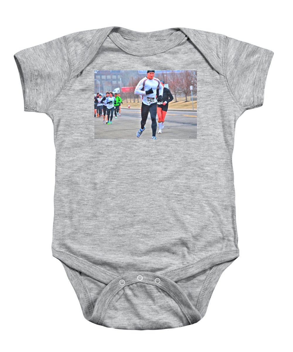 Baby Onesie featuring the photograph 06 Shamrock Run Series by Michael Frank Jr