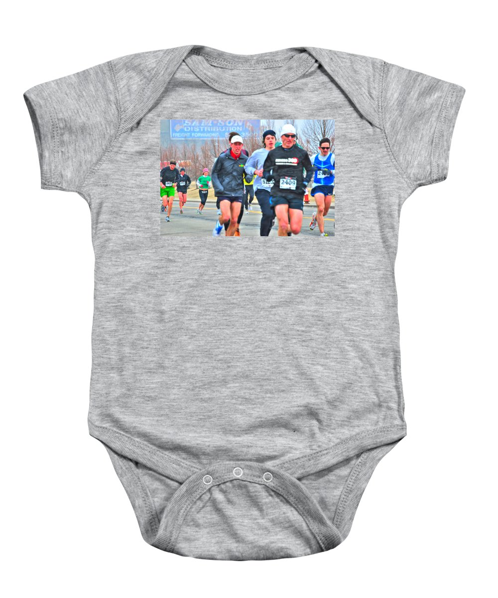 Baby Onesie featuring the photograph 07 Shamrock Run Series by Michael Frank Jr
