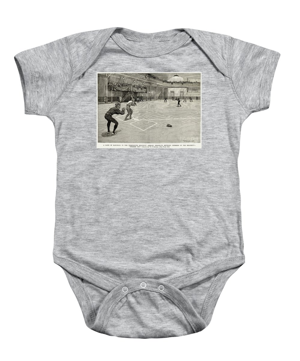 1890 Baby Onesie featuring the photograph Baseball: Brooklyn, 1890 by Granger