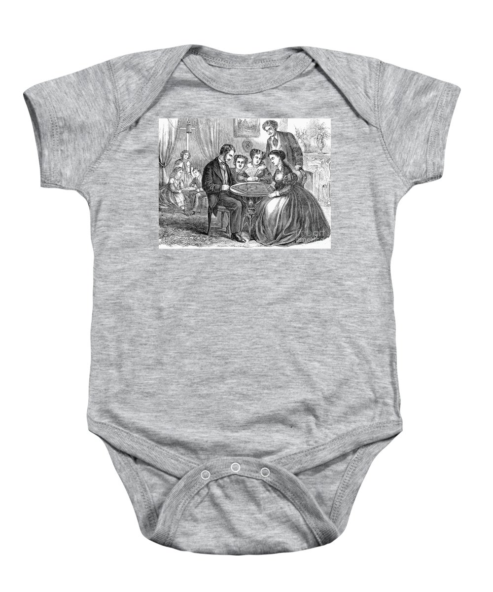 1866 Baby Onesie featuring the photograph Baseball: Parlor Game by Granger