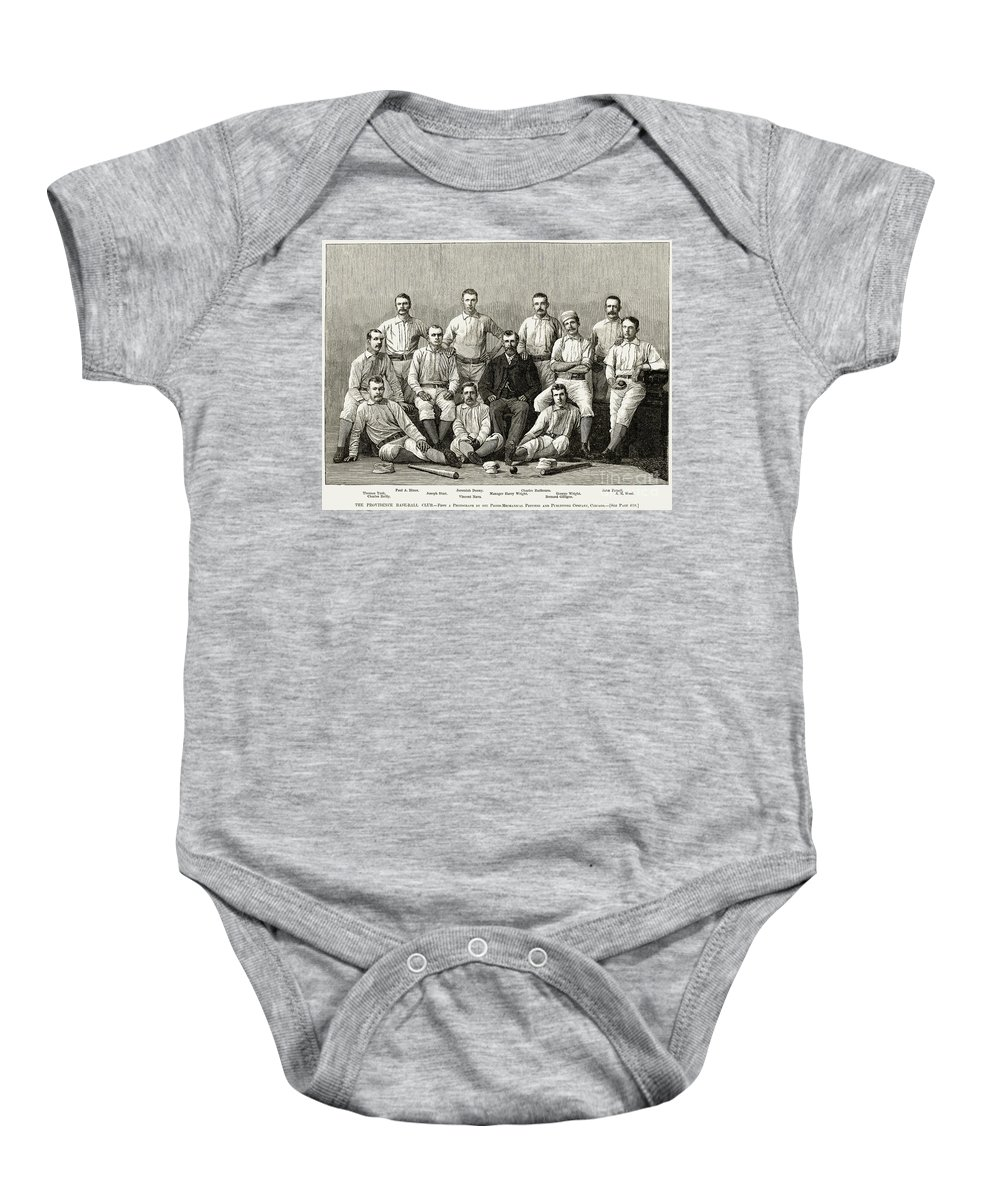 1882 Baby Onesie featuring the photograph Baseball: Providence, 1882 by Granger