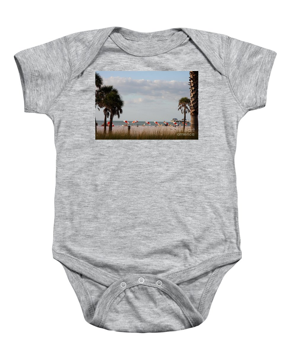 Beach Baby Onesie featuring the photograph Beach Life by Christiane Schulze Art And Photography