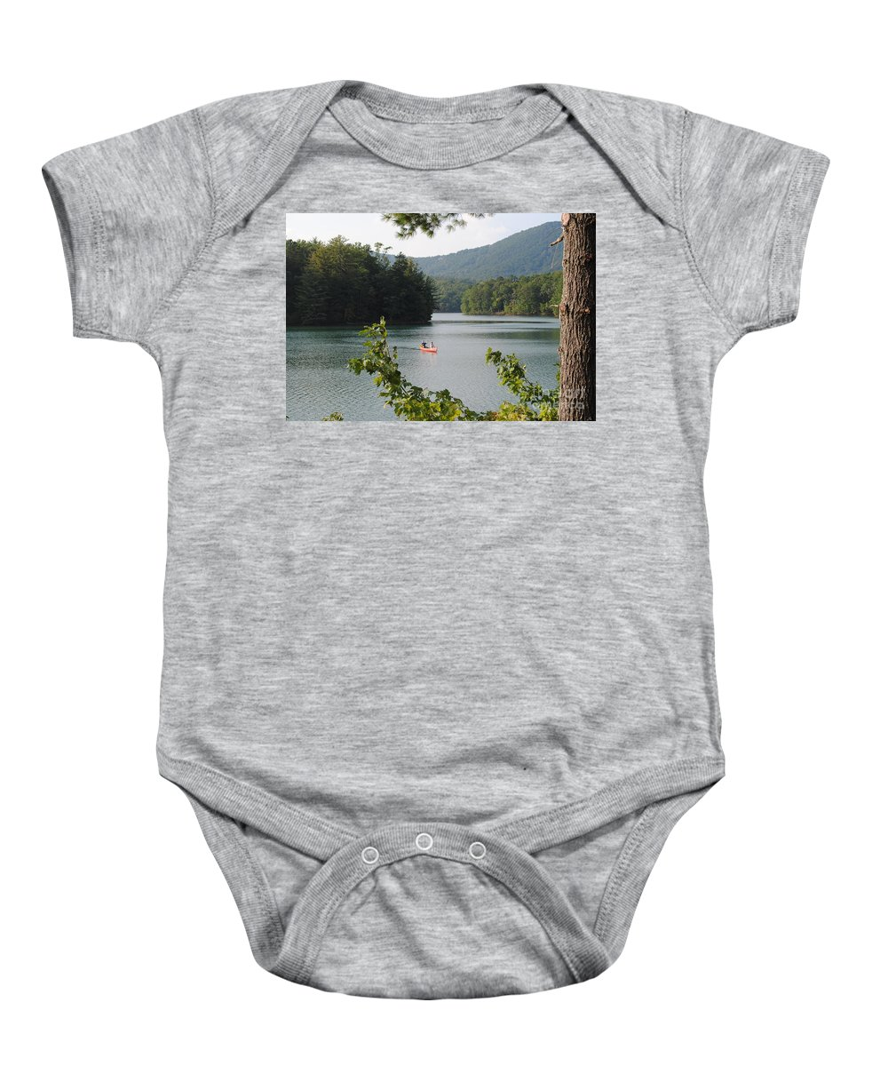 Big Baby Onesie featuring the photograph Big Canoe by Jost Houk