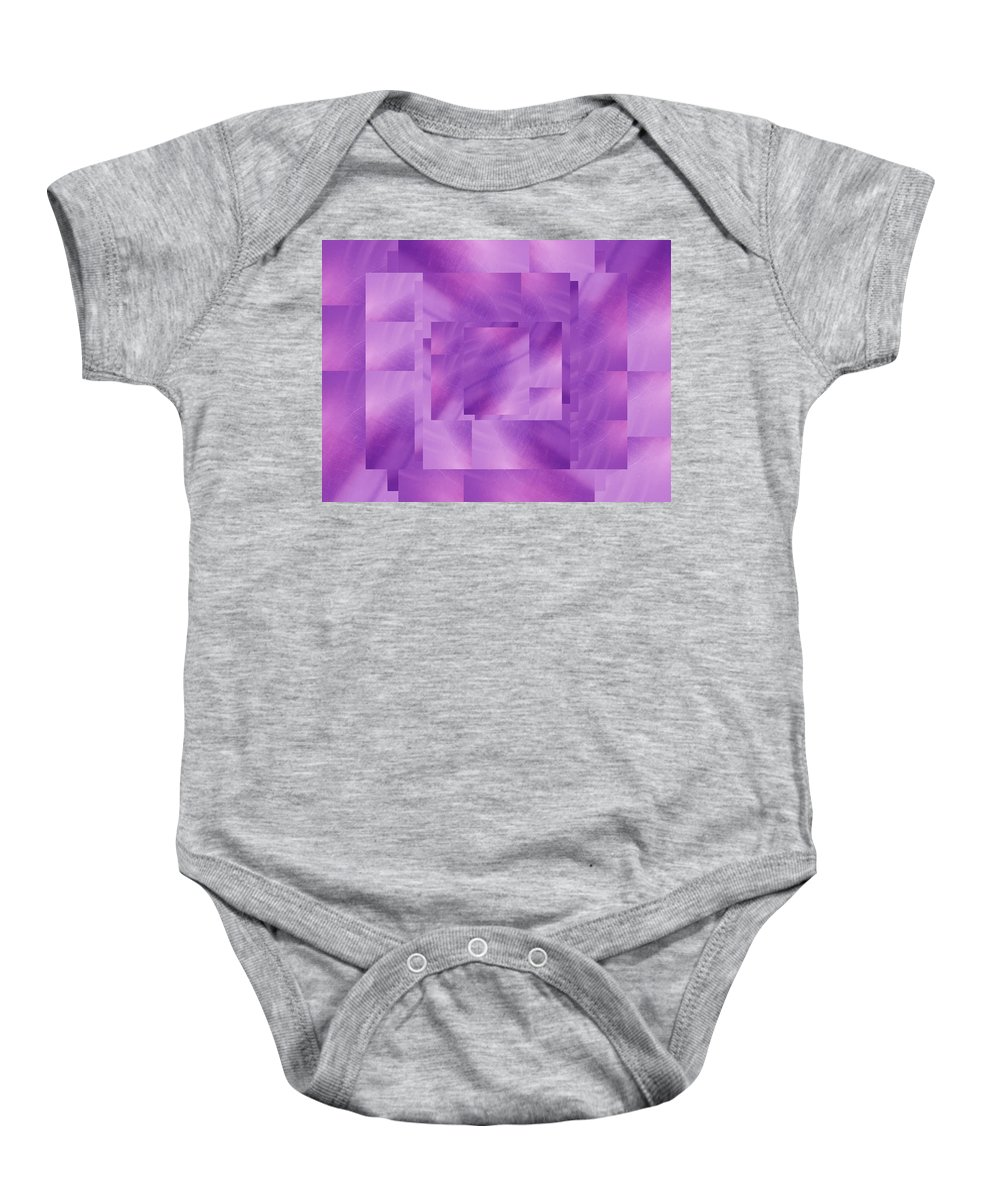 Abstract Baby Onesie featuring the digital art Brushed Purple Violet 3 by Tim Allen