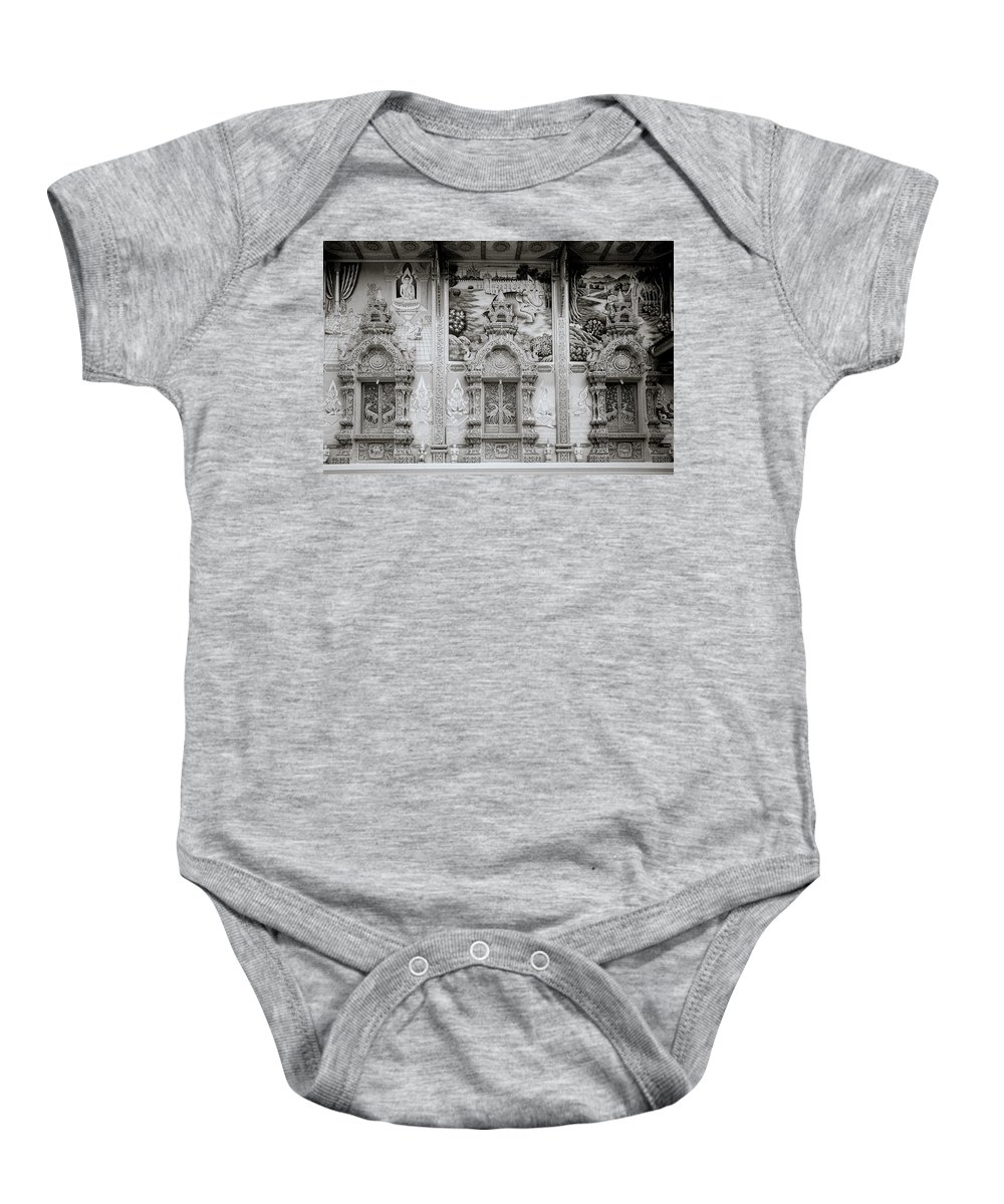 Asia Baby Onesie featuring the photograph Buddhist Temple Wat Luang In Chiang Khong In Thailand by Shaun Higson