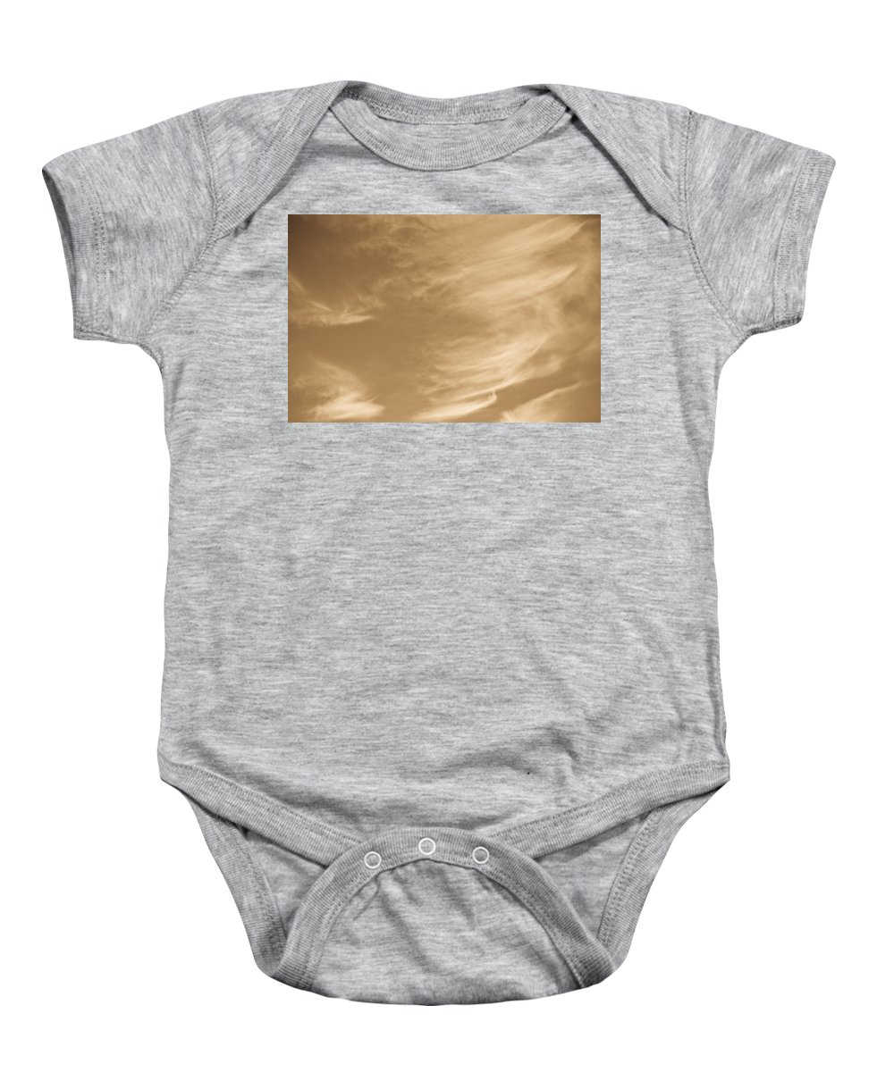 Clouds Baby Onesie featuring the photograph Coffee Clouds by David Pyatt