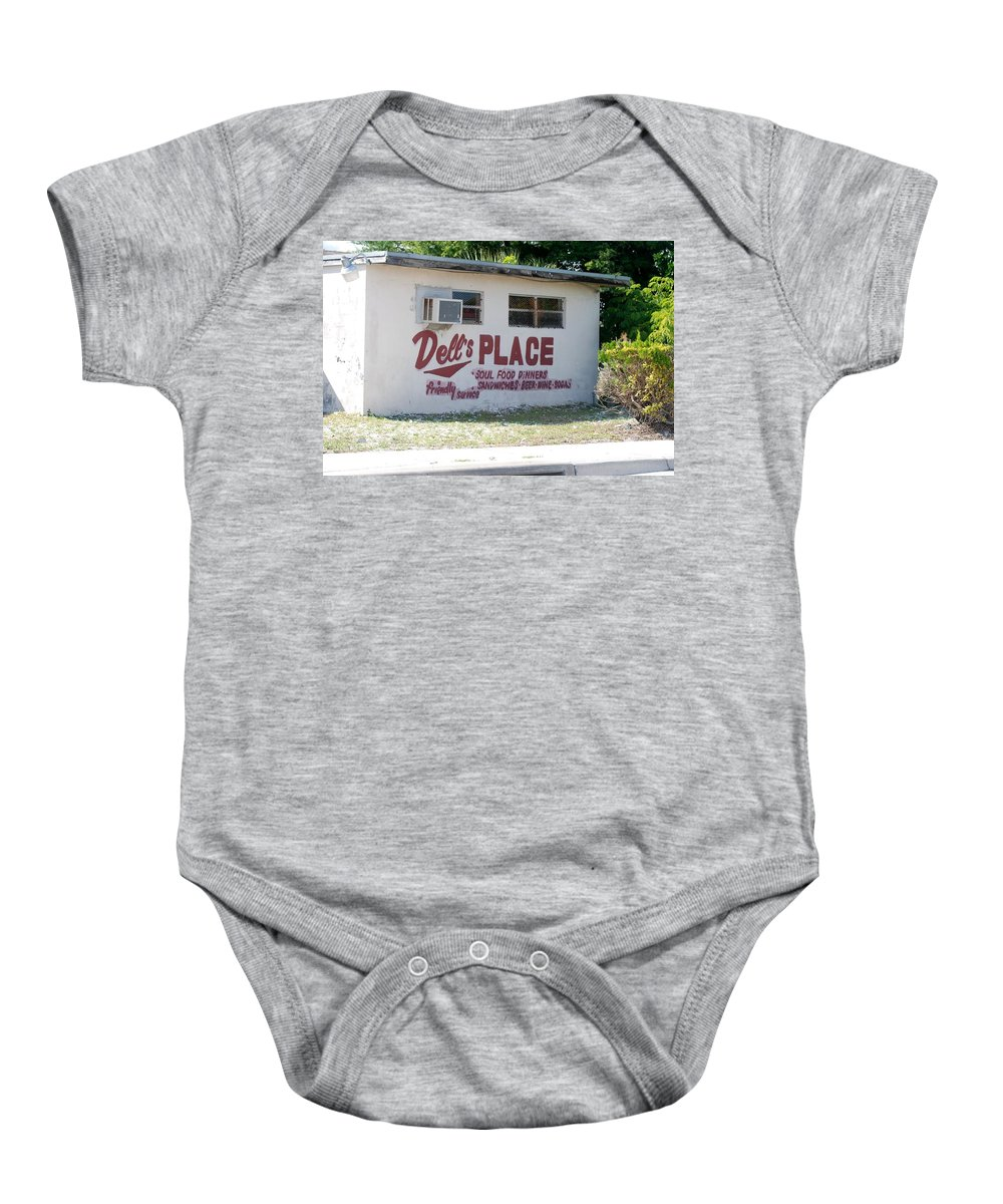 Red Baby Onesie featuring the photograph Dell's Place by Rob Hans