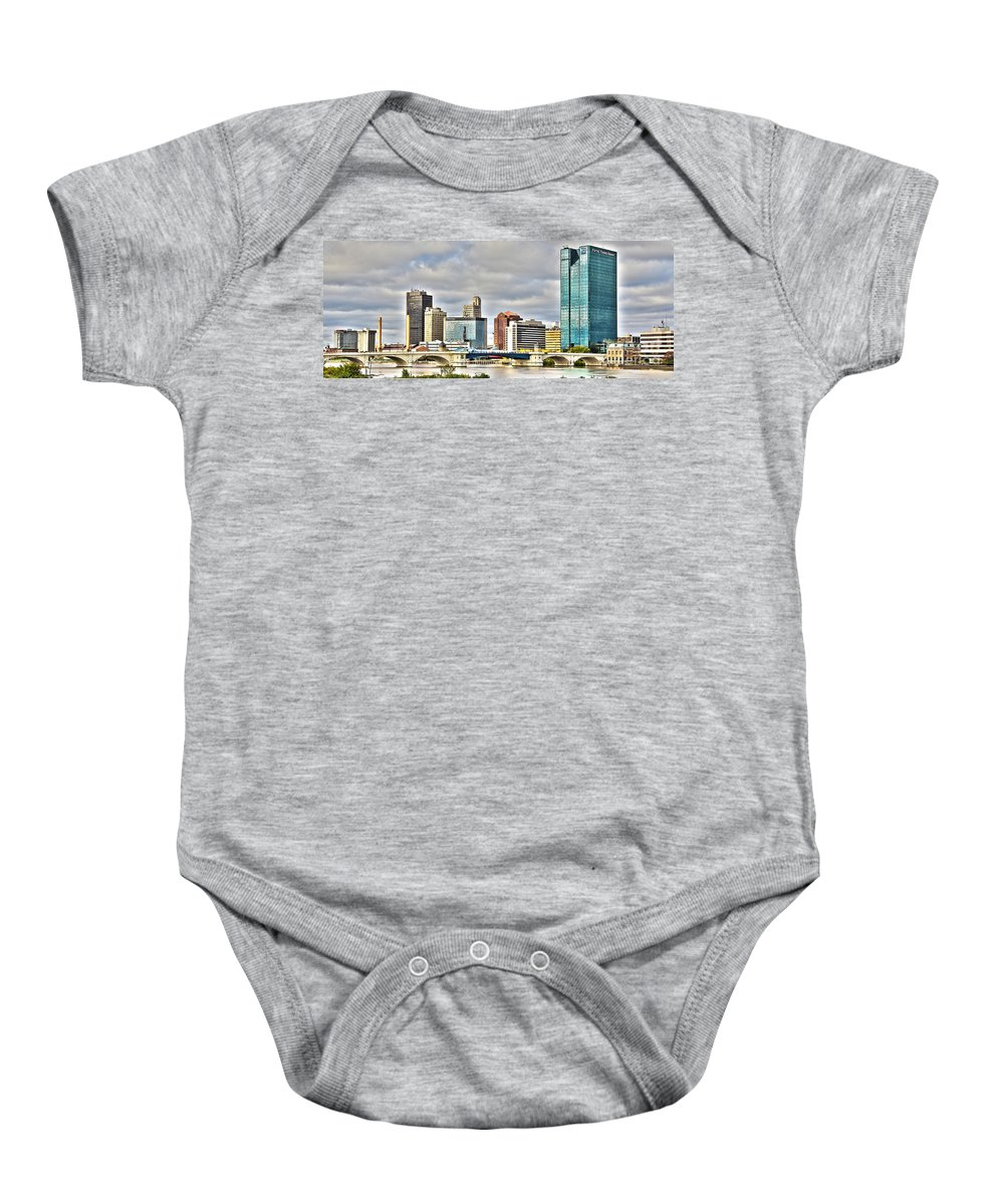 Toledo Ohio Baby Onesie featuring the photograph Downtown Toledo Riverfront by Jack Schultz
