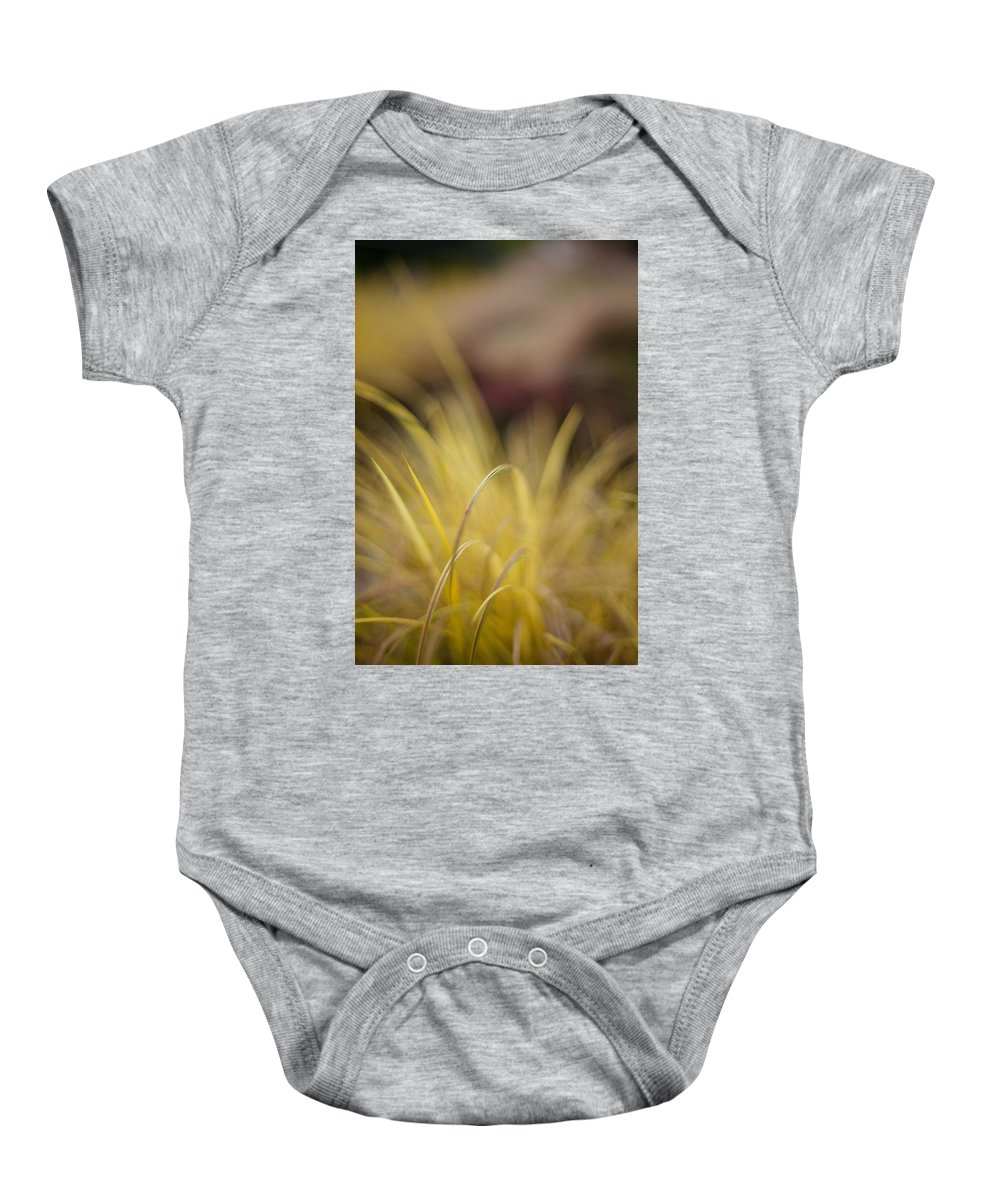 Grass Baby Onesie featuring the photograph Grass Abstract 2 by Mike Reid