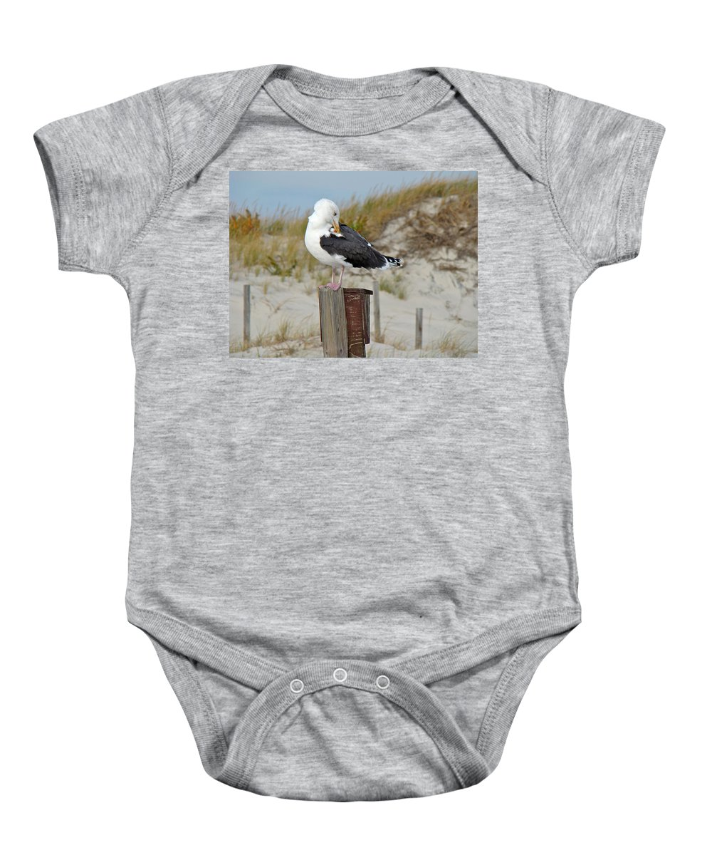 Gull Baby Onesie featuring the photograph Great Black-backed Gull  Larus Marinus by Mother Nature