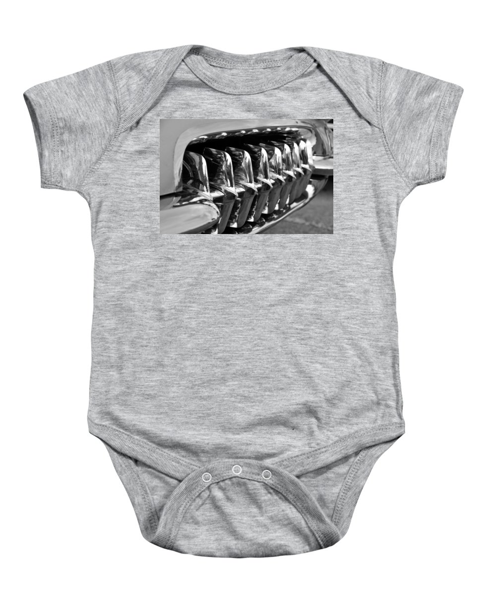 Fine Art Photography Baby Onesie featuring the photograph Grill Work by David Lee Thompson