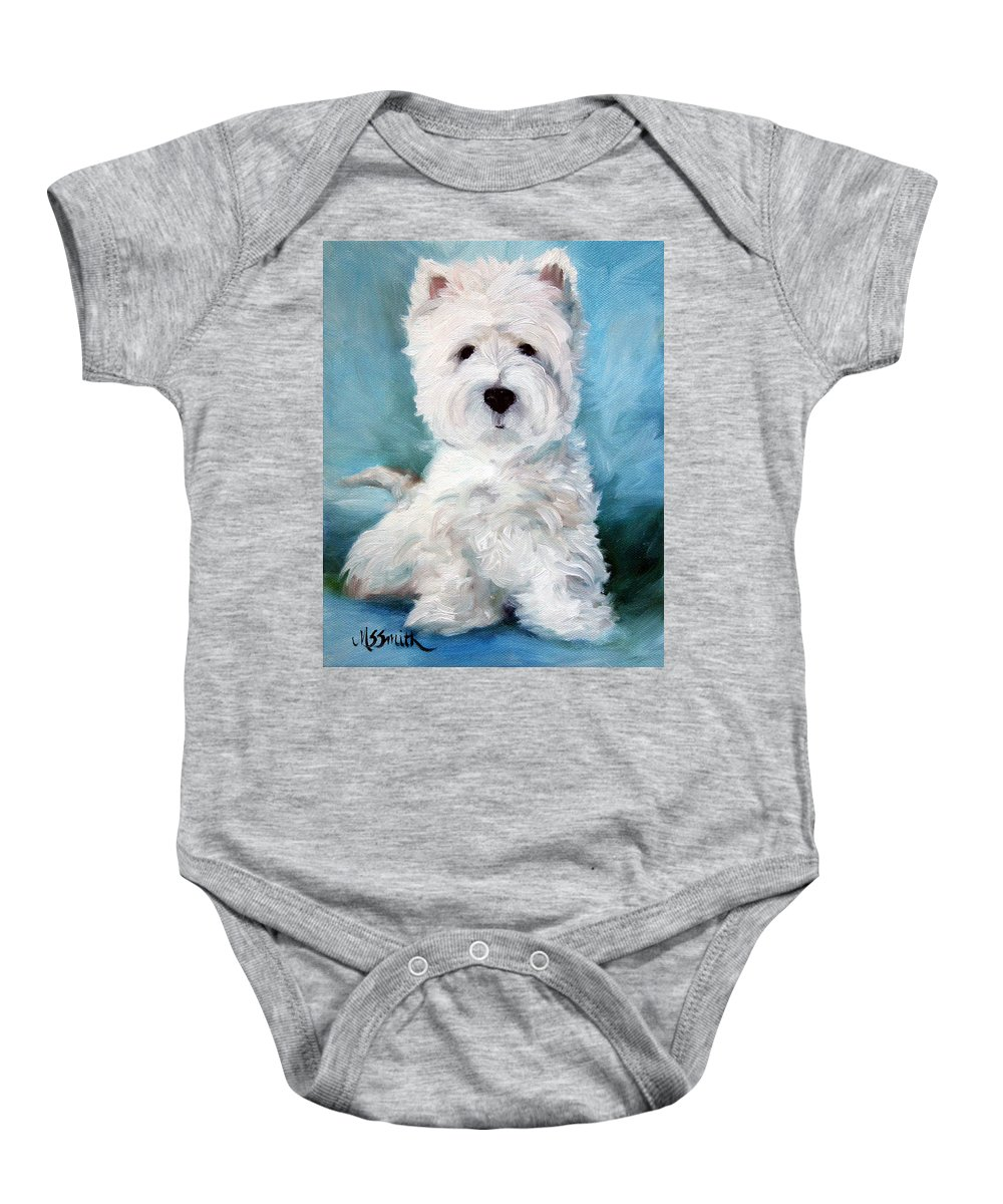 Art Baby Onesie featuring the painting Harry by Mary Sparrow