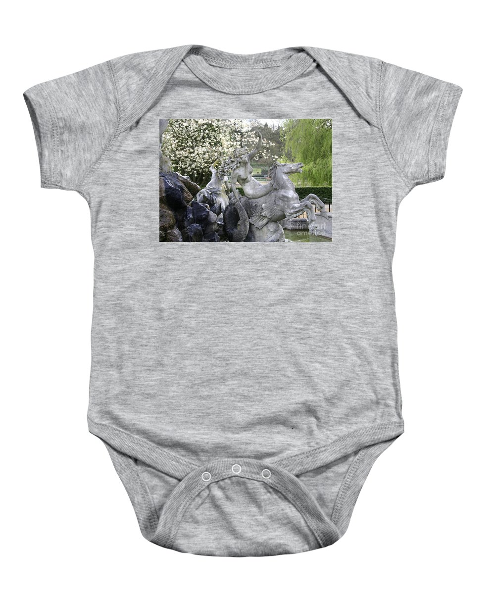 Italian Baby Onesie featuring the photograph Hippocampus by Heather Lennox
