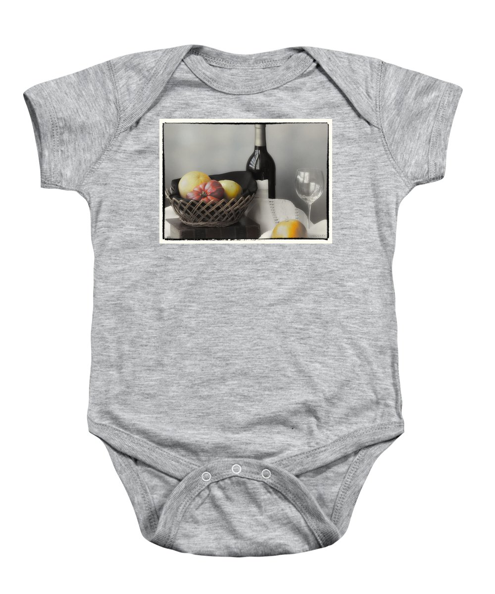 Cezanne Baby Onesie featuring the photograph Homage Cezanne by Linda Dunn