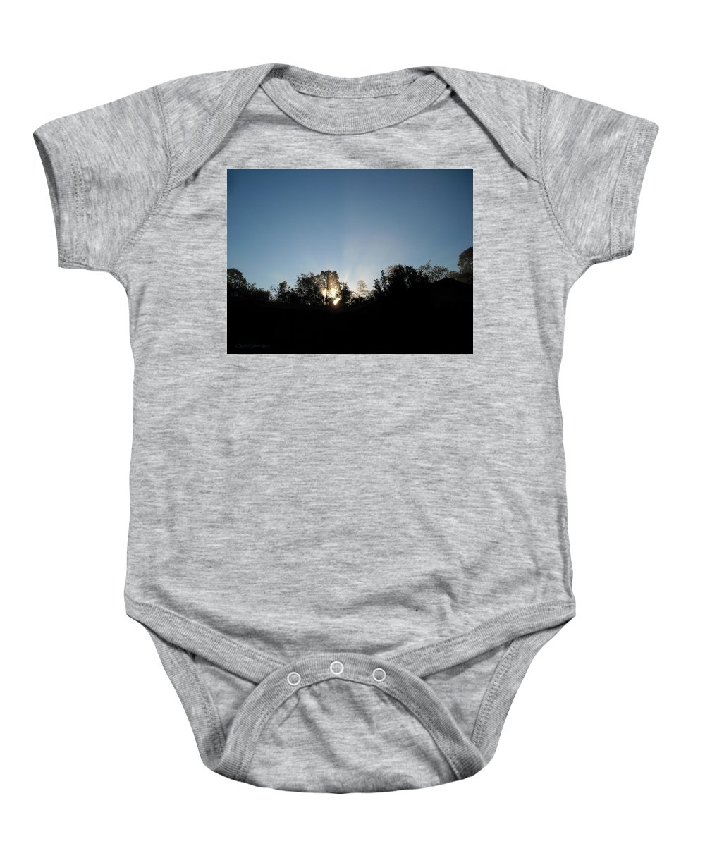 Silhouette Baby Onesie featuring the photograph Home Sweet Home by Christine Stonebridge