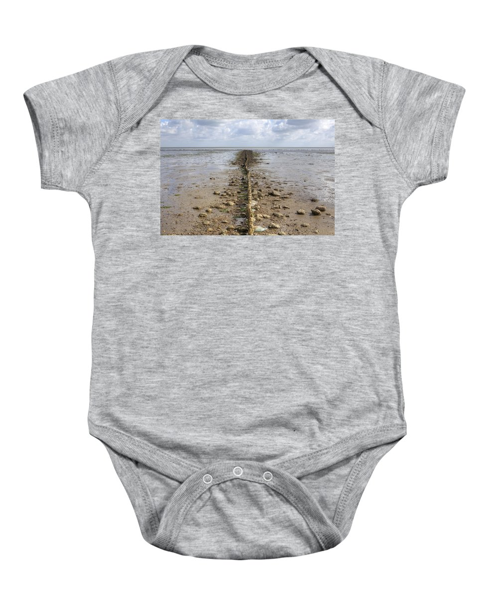 Wadden Sea Baby Onesie featuring the photograph Keitum - Sylt by Joana Kruse