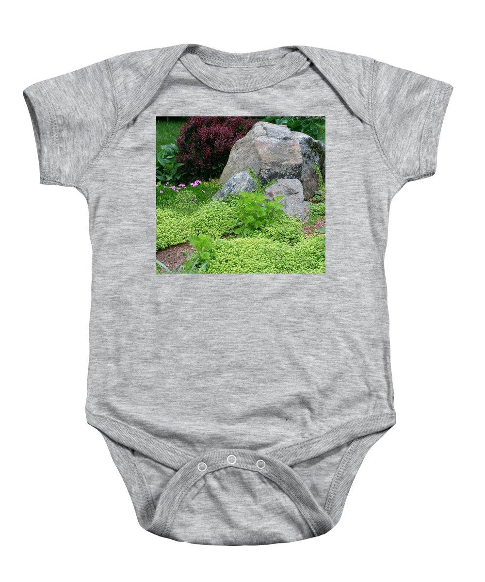 Baby Onesie featuring the photograph Rock Garden by Barbara S Nickerson