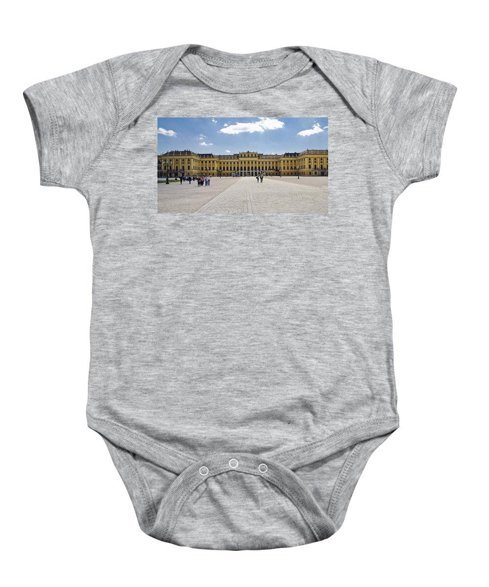 Schonbrunn Palace Baby Onesie featuring the photograph Schonbrunn Palace - Vienna by Jon Berghoff