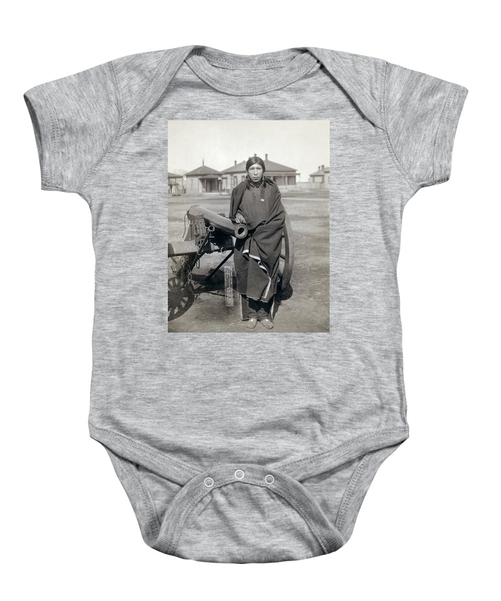 1891 Baby Onesie featuring the photograph Sioux Warrior, 1891 by Granger