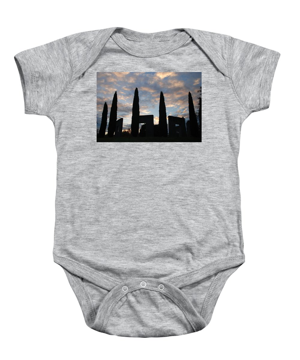 Stonehenge Baby Onesie featuring the photograph Stonehenge by Michael Merry