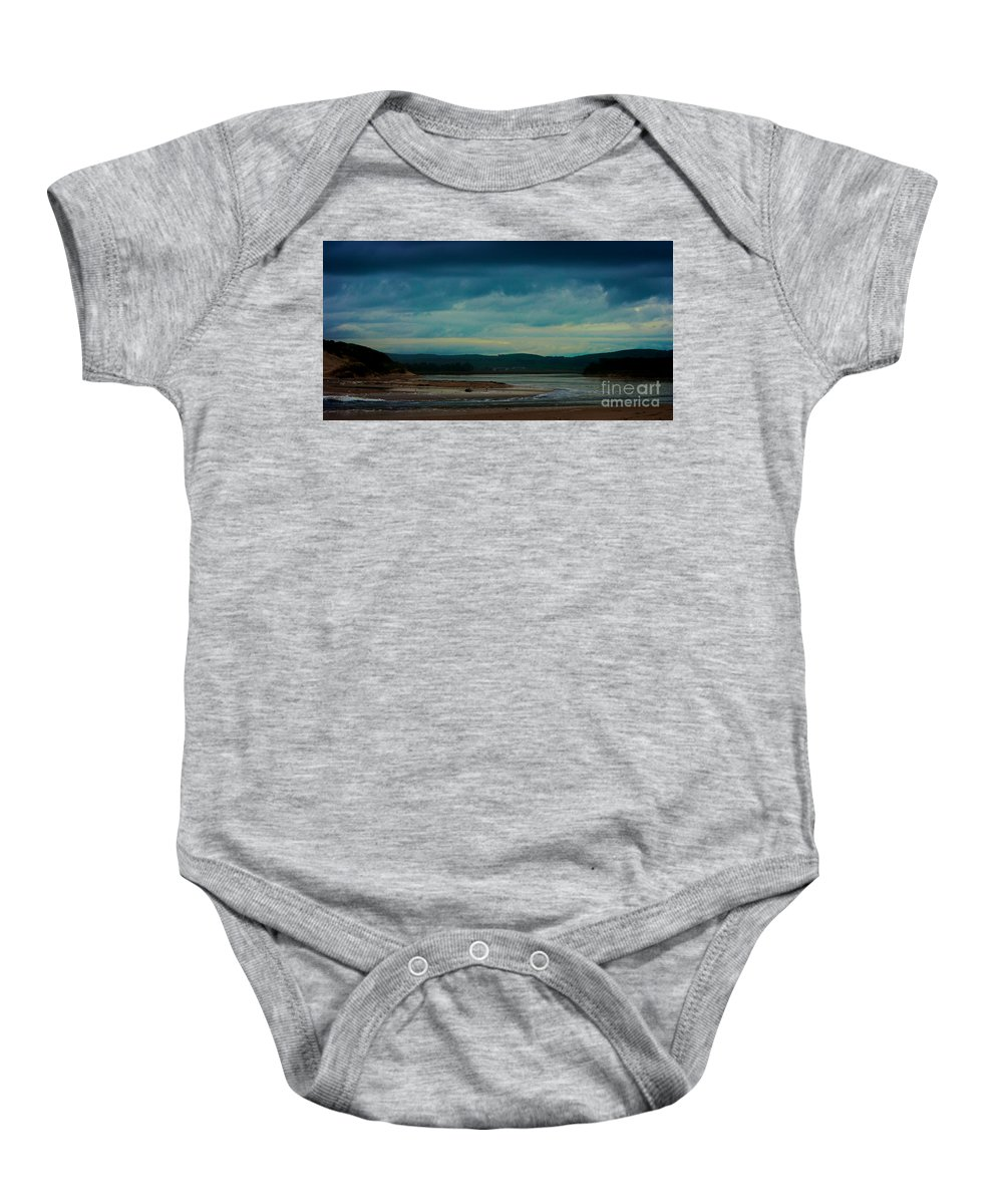 Powlet River Baby Onesie featuring the photograph Stormy Morning 2 by Blair Stuart