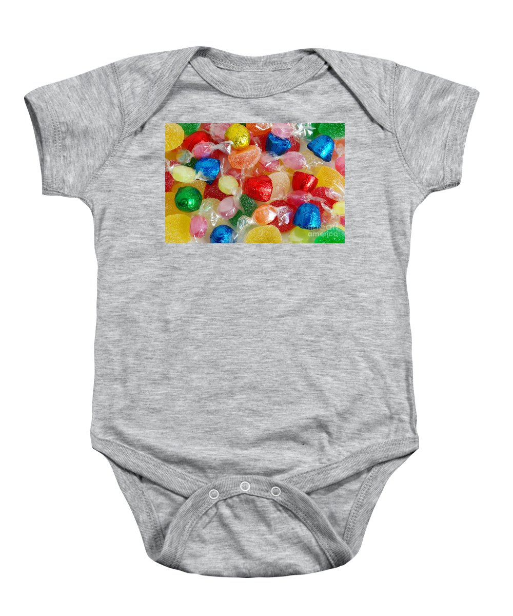 Candy Baby Onesie featuring the photograph Sweet Candies by Carlos Caetano