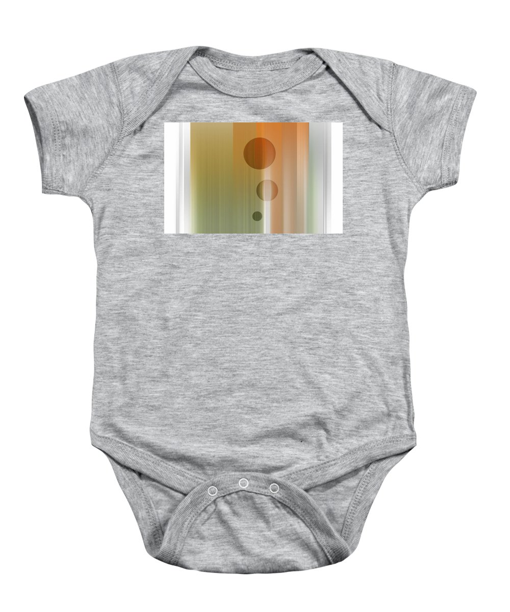 Abstract Baby Onesie featuring the digital art Thinking by Are Lund