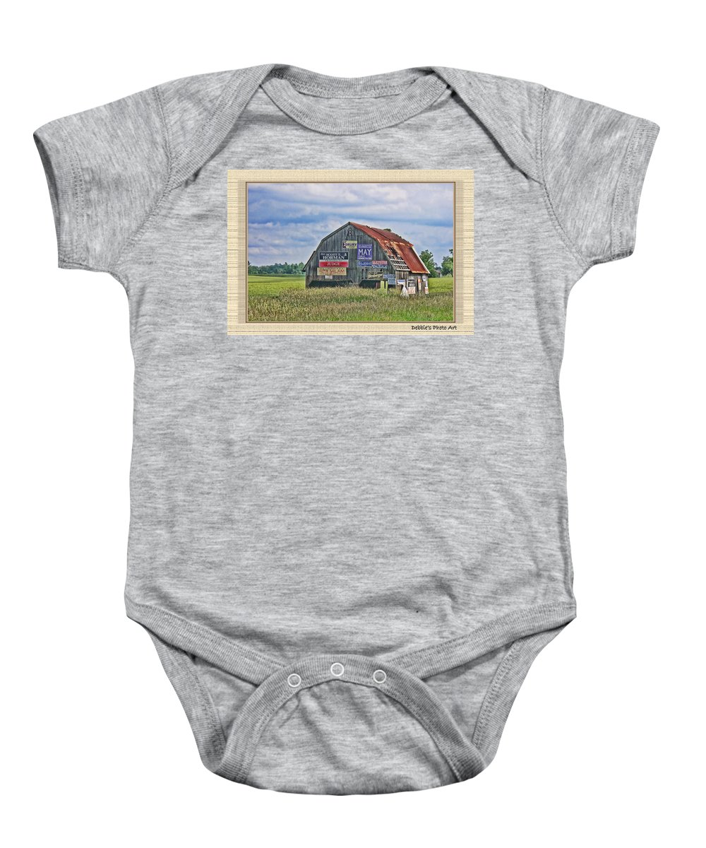 Landscape Baby Onesie featuring the photograph Vote For Me II by Debbie Portwood