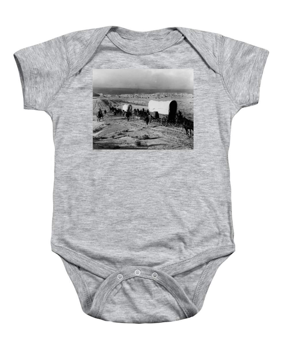 1930s Baby Onesie featuring the photograph Wagon Train by Granger