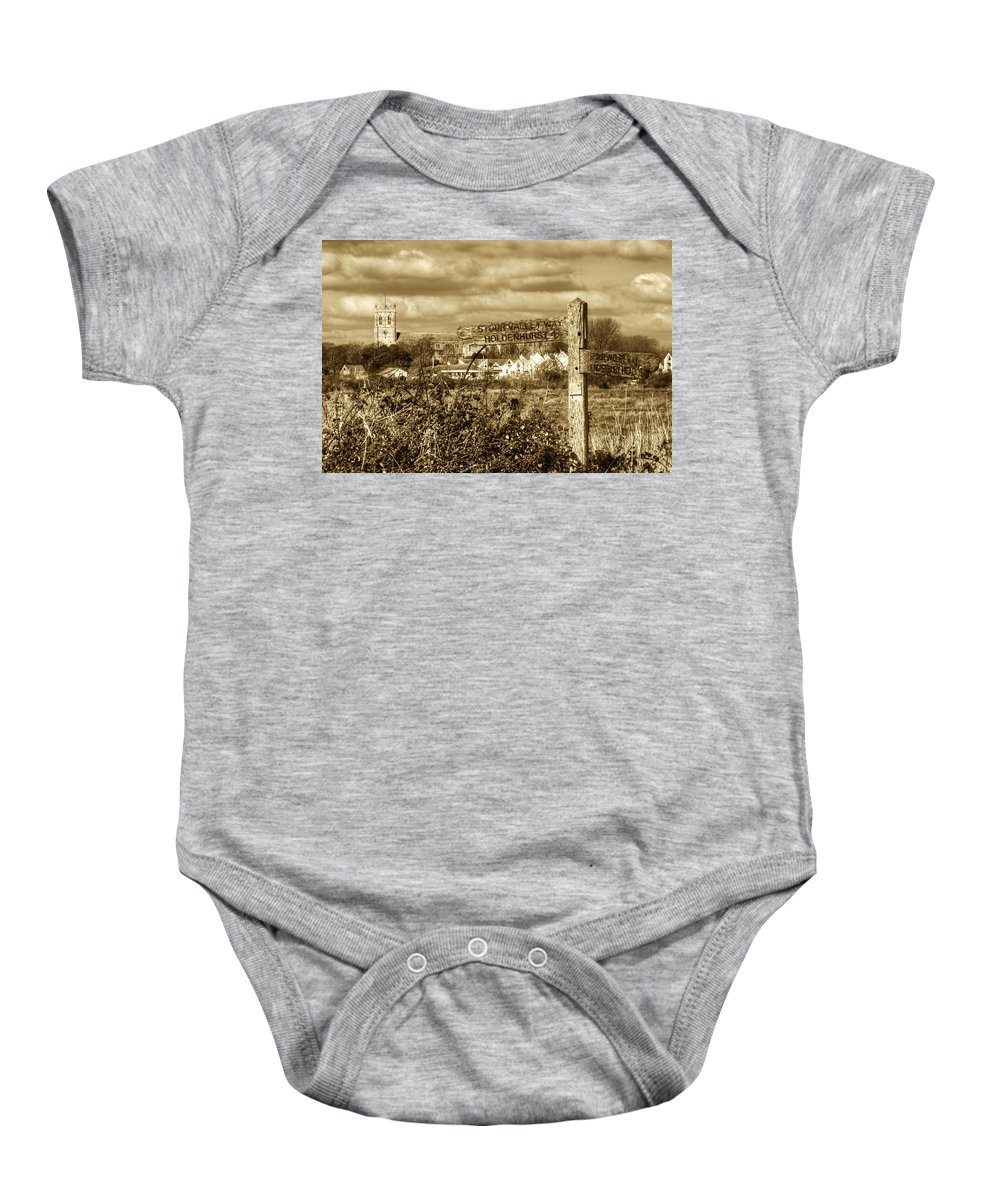 Mudeford Baby Onesie featuring the photograph Christchurch Priory by Chris Day