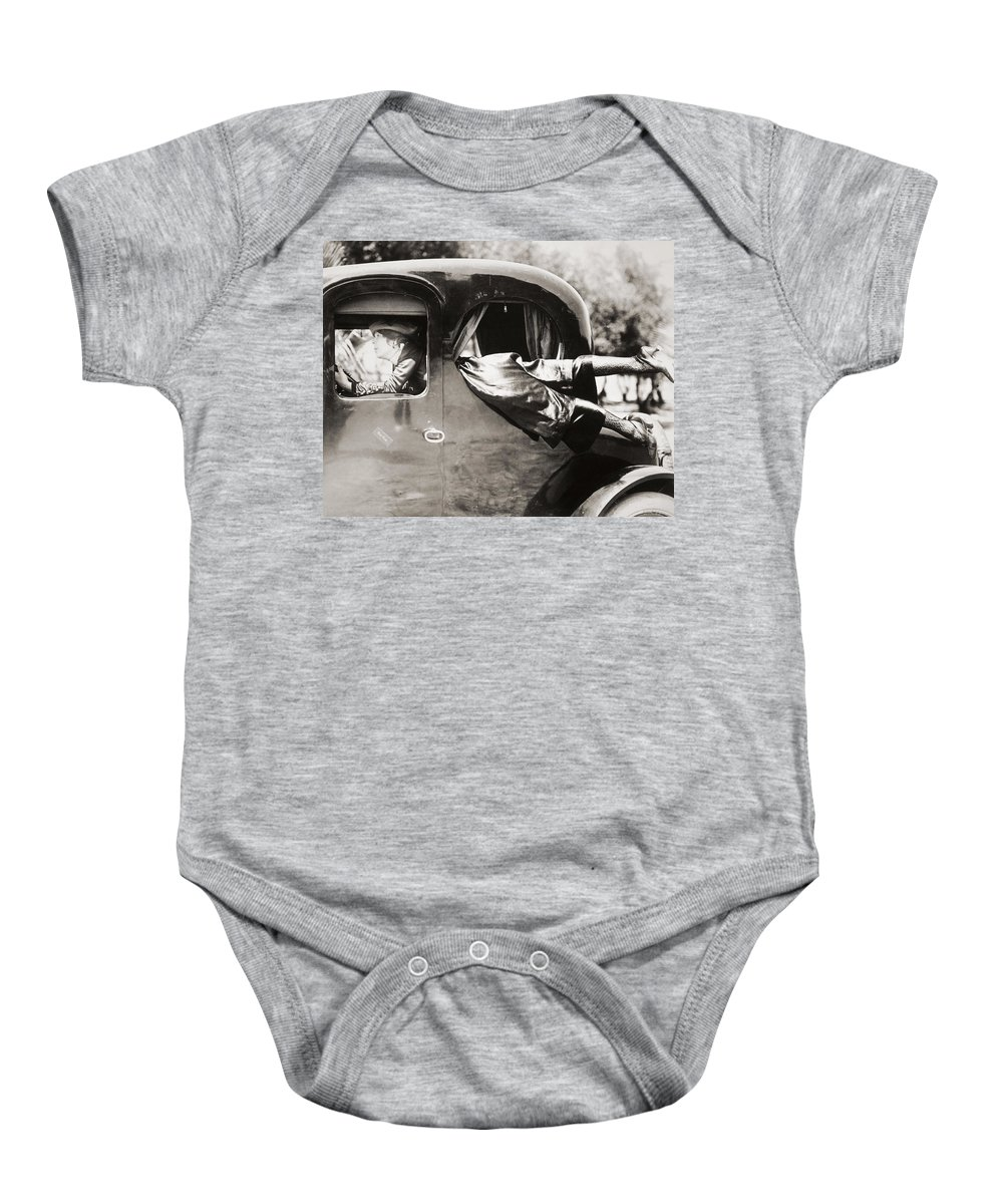 -transportation: Automobiles- Baby Onesie featuring the photograph Silent Film: Automobiles by Granger