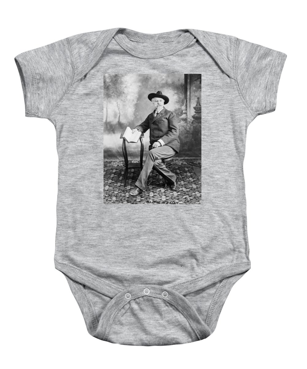 1907 Baby Onesie featuring the photograph William F. Cody (1846-1917) by Granger