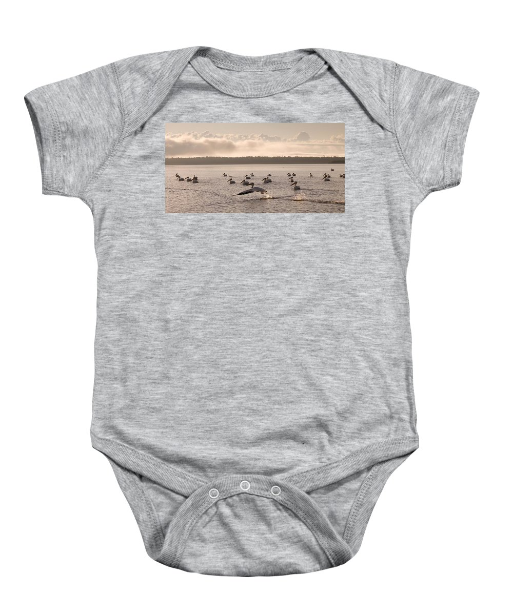 Horizontal Baby Onesie featuring the photograph Lake Of The Woods, Ontario, Canada by Keith Levit
