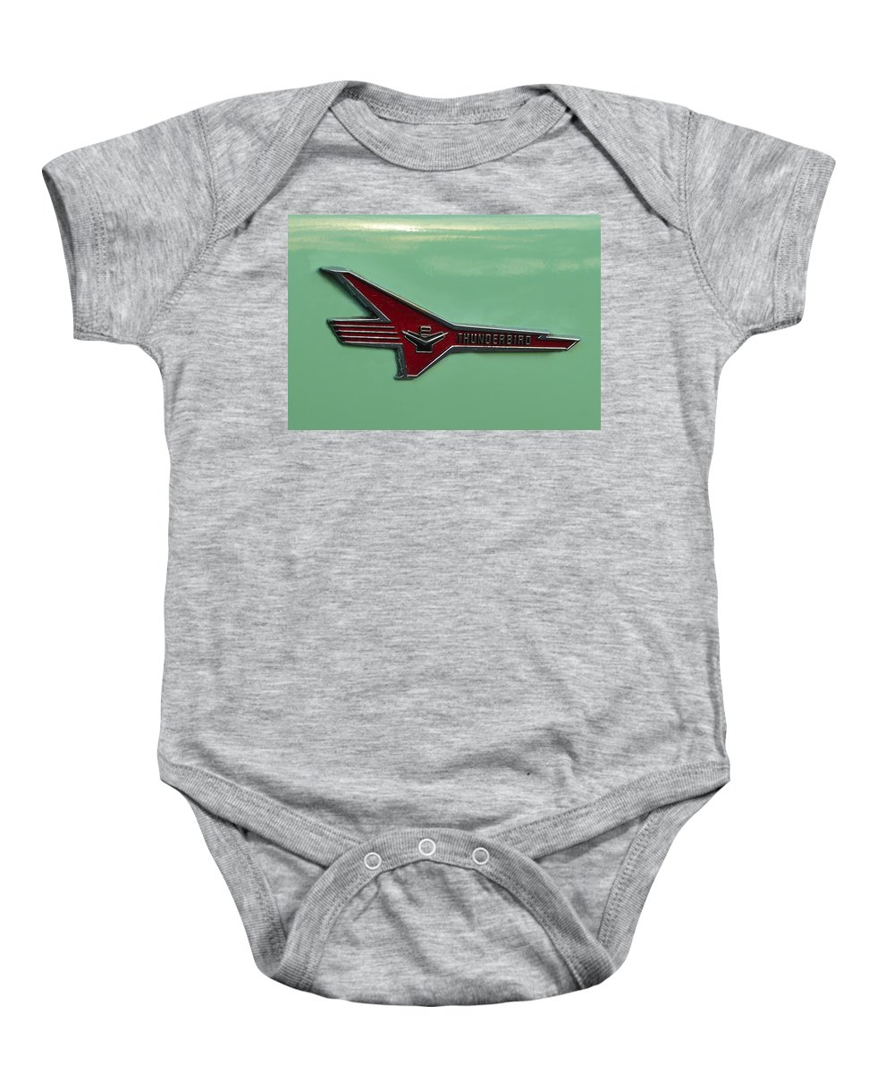 Fine Art Photography Baby Onesie featuring the photograph 1956 T Bird by David Lee Thompson