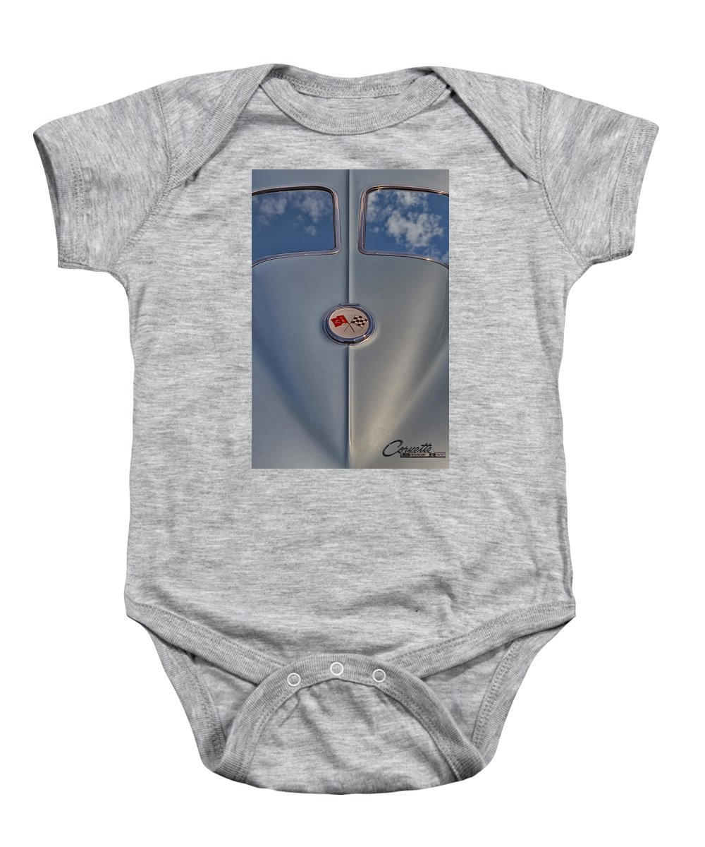 1963 Corvette Sting Ray Baby Onesie featuring the photograph 1963 Corvette Sting Ray by Susan Candelario