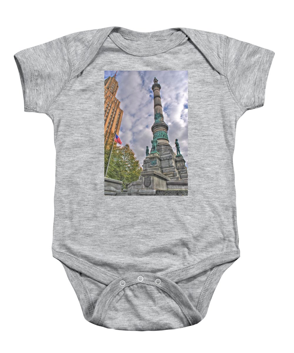 Baby Onesie featuring the photograph Soldiers And Sailors Monument In Lafayette Square by Michael Frank Jr