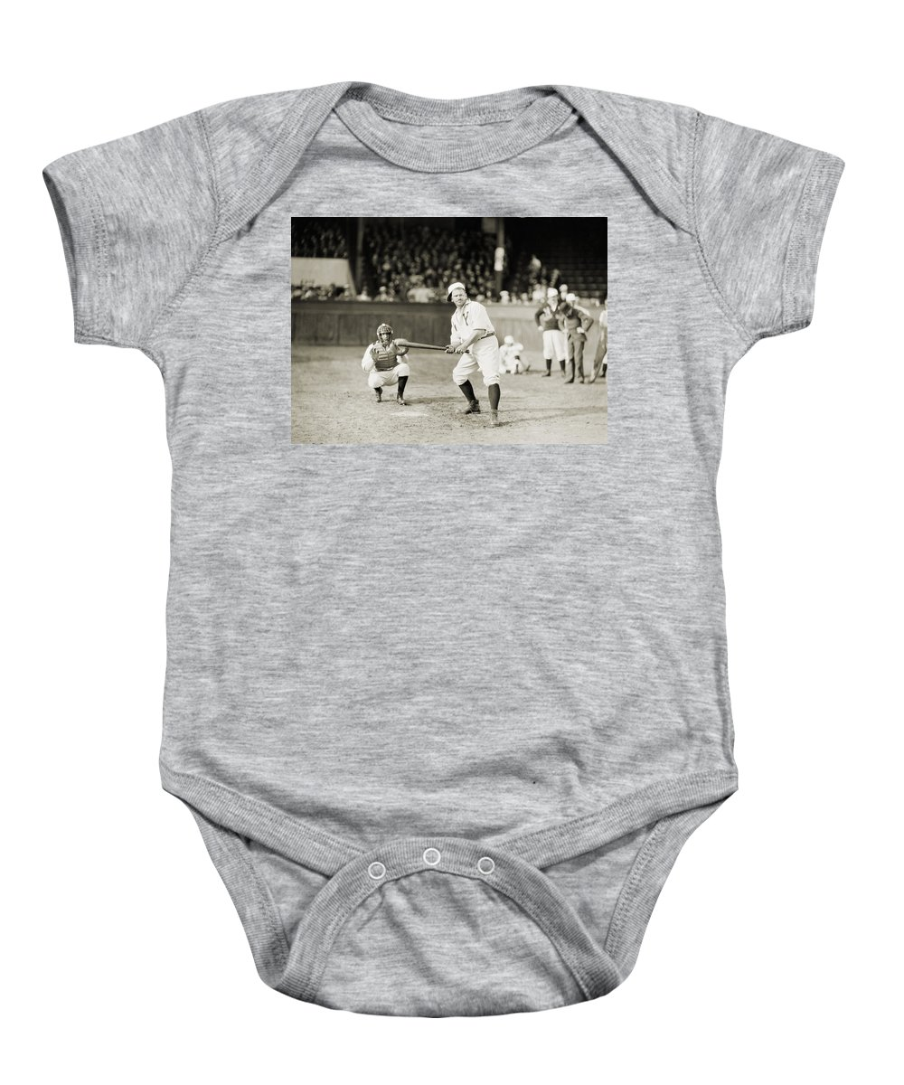 -sports- Baby Onesie featuring the photograph Silent Film Still: Sports by Granger